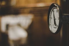 Timer on Moonshine Distiller, vintage royalty free stock photo