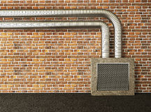 Industrial wall Stock Photo