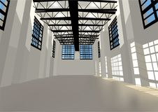 Industrial warehouse Stock Images