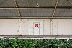 Industrial warehouse door and loading dock Royalty Free Stock Photography