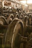 Industrial warehouse interior Stock Photo