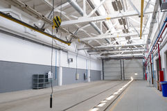 Industrial warehouse interior Stock Photography