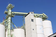 Industrial warehouse and storage silo Royalty Free Stock Photos