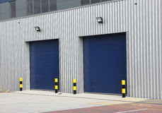 Industrial  Warehouse Unit Doors Royalty Free Stock Photos