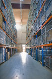 Industrial Warehouse - wide angle view Stock Image