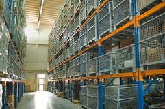 Industrial Warehouse - wide angle view Stock Photo
