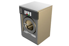 Industrial Washing Machine. A 3D render of an industrial washing machine on an isolated white studio background vector illustration