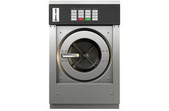 Industrial Washing Machine. A 3D render of an industrial washing machine on an isolated white studio background Stock Images