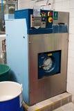 Industrial washing machines stock image