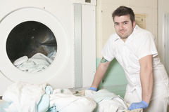 Industrial washing machines Royalty Free Stock Image