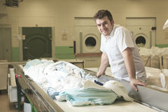 Industrial washing machines Stock Photography