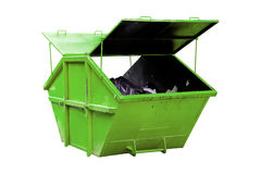 Industrial Waste Bin (dumpster) for municipal waste or industria Stock Image