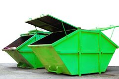 Industrial Waste Bin dumpster for municipal waste or industria Stock Photography