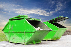 Industrial Waste Bin (dumpster) for municipal waste or industria Royalty Free Stock Images