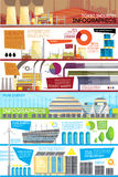 Industrial Waste Disposal Flat Infographic Poster Royalty Free Stock Photography