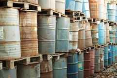 Industrial waste tanks Stock Photography