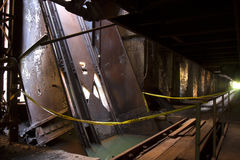 Industrial waste. Water pooling in abandoned steel mill Stock Images