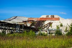 Industrial wasteland Stock Images