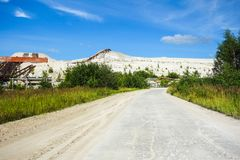 Industrial wasteland road Royalty Free Stock Photography