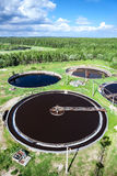 Industrial wastewater treatment plant Royalty Free Stock Photo