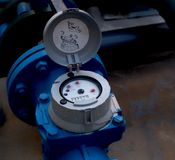 Industrial water meter Stock Images