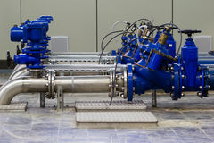 Industrial water pumping Stock Photography