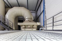 Industrial water and sewage treatment station Royalty Free Stock Photography