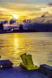 Industrial Water Sunset Stock Images