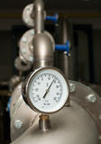 Industrial water temperature meter Stock Photos