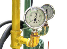 Industrial water temperature meter with pipe Royalty Free Stock Photo