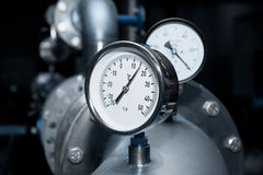Industrial water temperature meter Stock Images