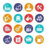 Industrial web icon collection Stock Images
