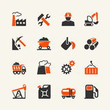 Industrial web icon set stock illustration