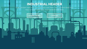 Industrial web site header template Royalty Free Stock Photography