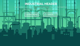 Industrial web site header template Stock Photo