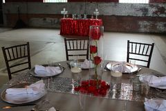 Industrial wedding reception stock images