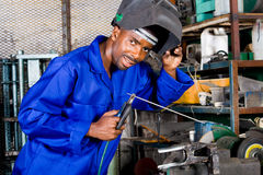 Industrial welder Stock Photography