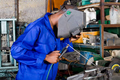 Industrial welder Stock Photos