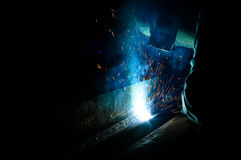 A industrial welder Royalty Free Stock Image