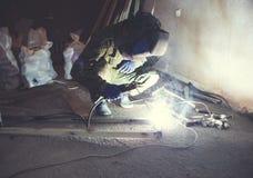 Industrial welder worker royalty free stock photos