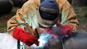 Industrial Welding Stock Photo