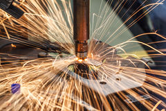 Industrial welding automotive Stock Image