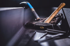 Industrial welding tool background Royalty Free Stock Photo