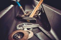 Industrial welding tool background Stock Photo