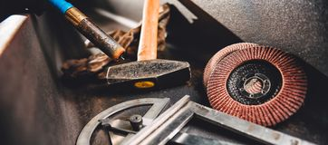 Industrial welding tool background Stock Images