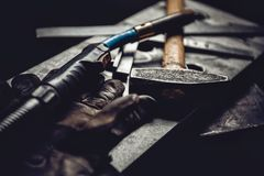 Industrial welding tool background Royalty Free Stock Image