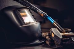 Industrial welding tool background Stock Photography