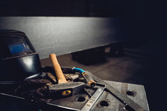 Industrial welding tool background Royalty Free Stock Images