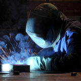 Industrial welding Stock Photography