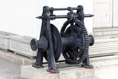 Industrial winch Stock Image